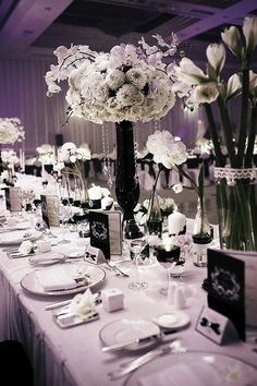 A Sophisticated Black and White Wedding by Storybook. http://www.theweddingnotebook.com