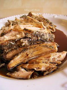 Baking with Blondie : Slow Cooked Sweet Balsamic Glazed Pork Tenderloin