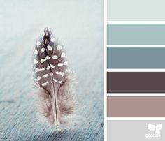 blauwtinten met paars/taupe accenten