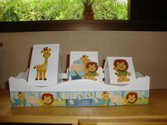 0 Safari, Decoupage, Kit Bebe, Arte Country, Kids Decor, Home Decor, Decor Ideas, Kids Boys, Nursery Decor