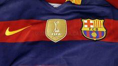 World champions emblem on the FC Barcelona shirt   FC Barcelona