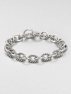 David Yurman - Sterling Silver Chain Link Bracelet - Saks.com