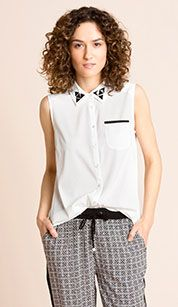 Blusa en blanco My Style, Tops, Women, Fashion, White Blouses, Sleeveless Tops, Sustainable Fashion, Dress Collection, Colors