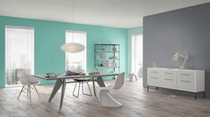 I created this Retro Eclectic dining room using Design By What Matters by Benjamin Moore. What's your design personality? #BenjaminMoore #DBWM