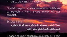 Dire / «صباح الخير - Sabah al-khair et مساء الخير - massa al-khair»