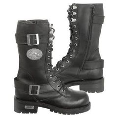 AHH!  These have skulls!!  They need to be my Harley boots.   Xelement Women's Black X29409 Performance Boot