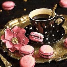 1 million+ Stunning Free Images to Use Anywhere Good Morning Coffee Gif, Good Morning Gift, Good Morning Greetings, Coffee Love, Coffee Art, Coffee Break, Coffee Cups, Beaded Wedding Cake, Spring Arts And Crafts