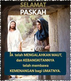 """✿*´¨)*With My Heart  ¸.•*¸.• ✿´¨).• ✿¨) (¸.•´*(¸.•´*(.✿ SELAMAT PASKAH .... TYM ~  1 Korintus 15:54-55 (TB)  Dan sesudah yang dapat binasa ini mengenakan yang tidak dapat binasa dan yang dapat mati ini mengenakan yang tidak dapat mati, maka akan genaplah firman Tuhan yang tertulis: """"Maut telah ditelan dalam kemenangan.  Hai maut di manakah kemenanganmu? Hai maut, di manakah sengatmu?"""""""