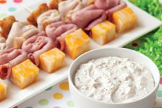 Party Skewers with Bacon Dip