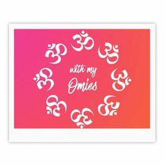"KESS Original ""With My Omies Pink"" Coral Magenta Fine Art Gallery Print"