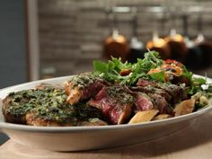 Get Broiled Porterhouse with Roasted Garlic and Lemon Recipe from Cooking Channel