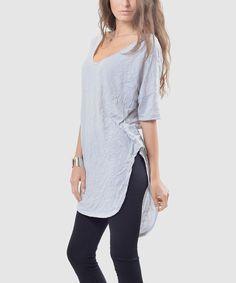 Gray Irene Extra-Long Tunic - Plus