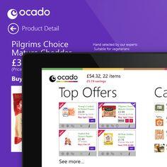 Ocado WINDOWS8 metro style app design