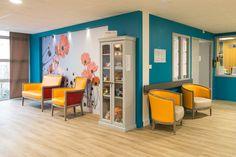 maison de retraite Divider, Design, Furniture, Home Decor, Relaxing Room, Senior Living Homes, Home Ideas, Everything, Color