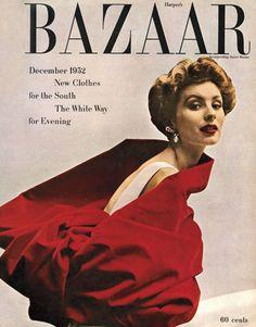 Vintage Harper's Bazaar Cover. Dec 1952