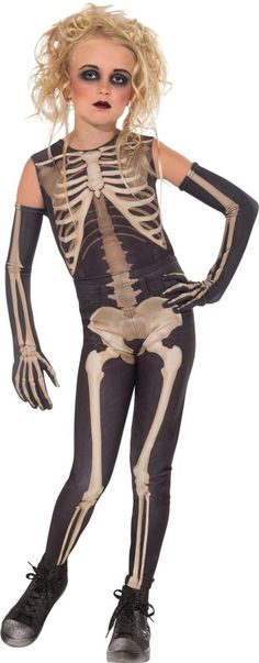 Skelee Girl Skeleton Costume