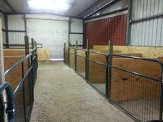 Barn with stalls for goats