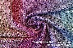 """handgewebtes Tragetuch """"Sophias Rainbow"""" 20171403 mit Baumwoll-Schuss"""