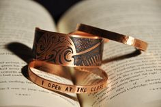 This Harry Potter copper cuff set. | 28 Literary Accessories All Book Lovers Must Have