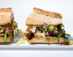 Chicken Sandwiches with Chiles, Cheese and Romaine Slaw
