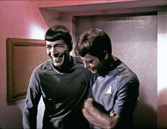 Original Star Trek Series photostream on Flickr: Spock and McCoy Blooper, via Flickr.