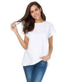 Shop a great selection of MSHING Women's Simple Crew Neck Plain Loose T-Shirt Summer Casual Tops. Find new offer and Similar products for MSHING Women's Simple Crew Neck Plain Loose T-Shirt Summer Casual Tops. Older Women Fashion, Black Women Fashion, Women's Fashion, Spring Fashion, Womens Fashion Casual Summer, Simple Shirts, Casual Tops For Women, Skinny, Clothes For Women