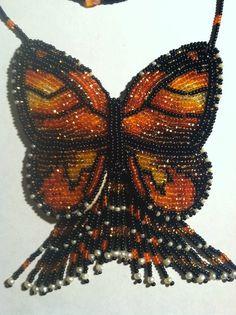 Native American Beaded Monarch Butterfly by Americandreamcatcher, SL Neumann (Menominee, Mohican, Oneida) on Etsy
