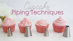 Unique Buttercream Icing For Cupcakes Piping with Cupcake Piping Techniques Tutorial Photo Cupcake Creme, Cupcake Piping, Cupcake Cakes, Cupcake Fillings, Fondant Cakes, Baking Cupcakes, Icing Tips, Frosting Tips, Frosting Recipes