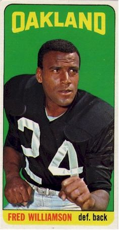 The Ultimate Inglorious Bastard—1965 Topps football card for Fred Williamson
