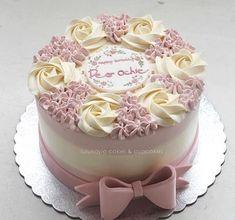 Ideas birthday cake decorating flowers ideas for 2019 Cake Decorating Videos, Birthday Cake Decorating, Cake Decorating Techniques, Cake Birthday, Birthday Cake Designs, Decorating Ideas, Birthday Design, Cake Icing, Buttercream Cake