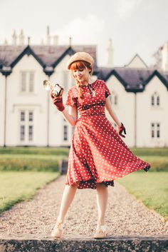 The Clothes Horse Outfit: Retro Red Polka Dots