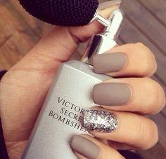 Grey mate nails