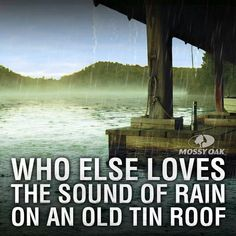 I love the sound of Rain on an old tin roof - That's why I love my tin roof!
