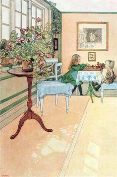 Carl Larsson - The Chess Game