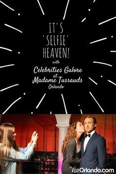 "It's 'Selfie"" Heaven with Celebrities Galore at Madame Tussauds Orlando Orlando Holiday, Wax Museum, Madame Tussauds, Universal Studios, Heaven, Florida, Selfie, Celebrities, Movie Posters"