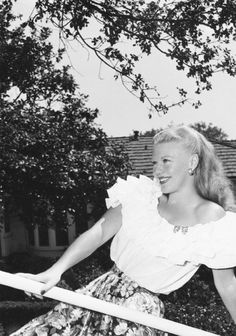Ginger Rogers wearing Mexican blouse, c. 1946