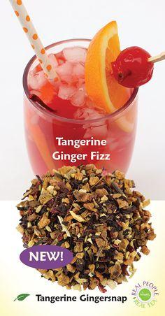 Tangerine Gingersnap with tea1