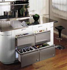 Küchendesign Mit Vier Kühlschrank Schubladen