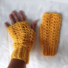 Crochet Fingerless Gloves Texting Gloves by WildHeartYarnings, $18.00