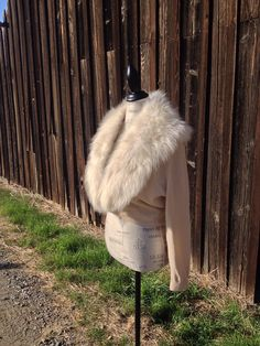 Vintage 1950s Fur Collar Cashmere Sweater on Etsy, $68.00