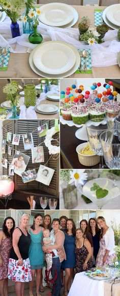 baby shower ideas- i like the idea of pictures of the baby's. maybe the mother and father baby pictures?