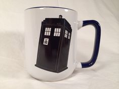 Doctor who tardis mug trust me i'm The Doctor dr who Tennant Smith Baker quotes Tardis time lord coffee mug by SomeAnticsETC on Etsy https://www.etsy.com/listing/204195638/doctor-who-tardis-mug-trust-me-im-the