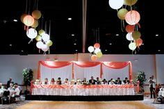corporate dinner party decorating | head table and decorations a beautifully decorated head table with ...