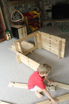These DIY wood building blocks for kids are the best toy for imagination and can be used for so many fun play ideas #woodcraftsforkids Ladder, Staircases, Scale, Stairs, Stairway