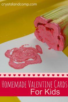 homemade valentine cards for kids at Crystalandcomp.com