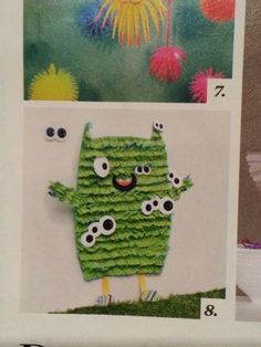 Pin the eyes on the monster.  From Parents Magazine.