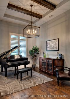 Decorating around a baby grand piano in a small living for Modern home decor grande prairie