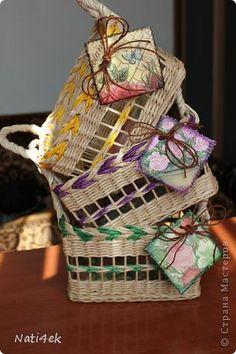 Поделка изделие Декупаж Кракелюр Плетение Три подружки заплетушки Бумага газетная Салфетки фото 8