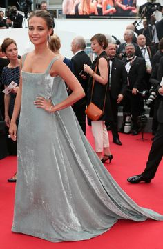 Actress Alicia Vikander in Valentino Couture with Boucheron jewellery at the 'Macbeth' premiere during the 2015 Cannes Film Festival.  Photo: Getty.