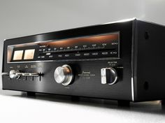 """""""Sansui - TU 5500 ,Vintage Audiophile Stereo Tuner"""" Same looks as my collectioned TU 7700. Red LED scale pointer (Here seen above 1000 K Hz)"""